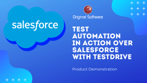 TestDrive test automation in action over Salesforce